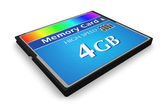 CompactFlash memory card — Stock Photo