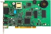 Green PCI card — Stock Photo