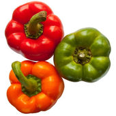Three sweet peppers — Stock Photo