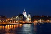 Parliament Hall in Budapest, Hungary — Stock Photo