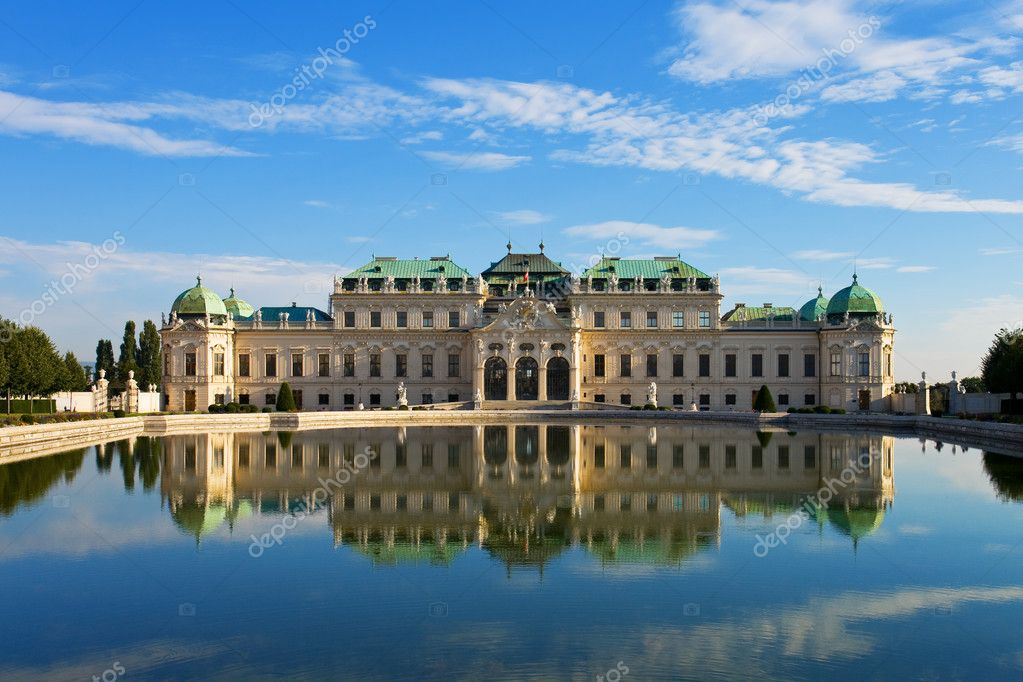 Summer palace Belvedere in Vienna, Austria  Stock Photo #4284631
