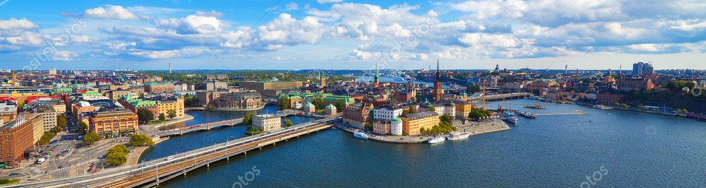 Aerial panorama of Stockholm, Sweden  Stock Photo #4284717