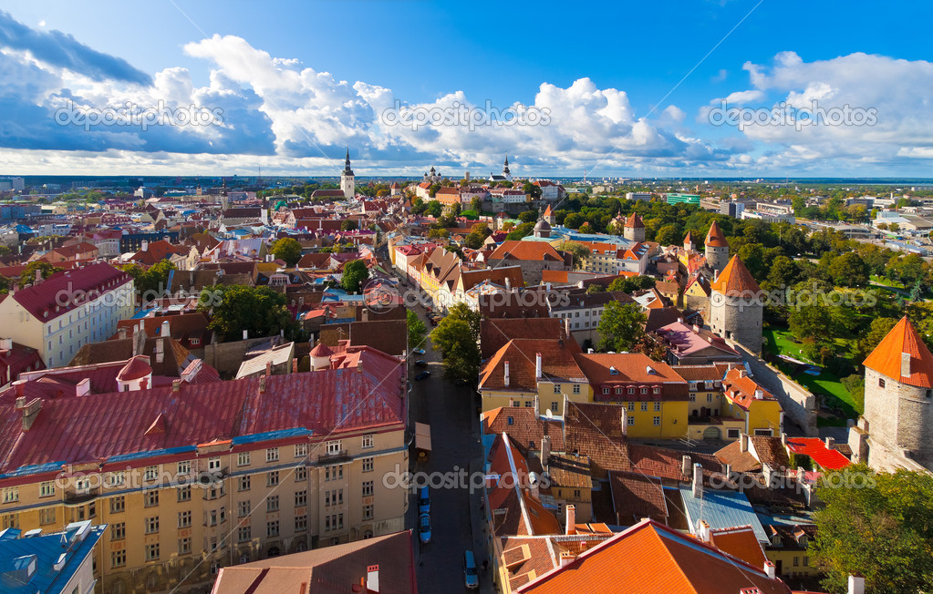 Panorama of Tallinn, Estonia  Stock Photo #4284834