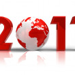 New Year 2011 concept — Stock Photo