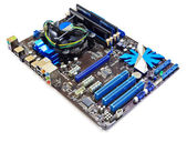 Computer motherboard — Stock Photo