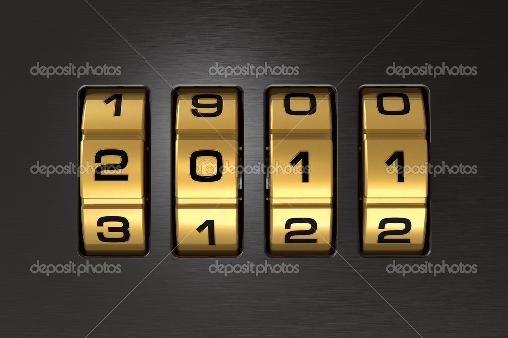 New Year 2011 code lock — Foto Stock #4290034