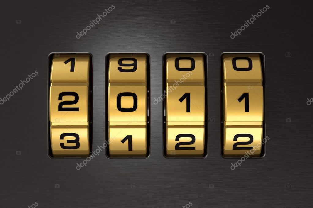 New Year 2011 code lock — Stockfoto #4290034