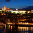 Night Prague panorama - Stockfoto
