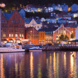 Scenery of Bryggen in Bergen, Norway — Stock Photo #4319859