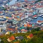 Panorama of Bergen, Norway — Stock Photo