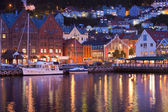 Scenery of Bryggen in Bergen, Norway — Stock Photo
