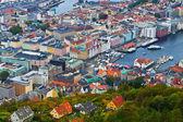 Panorama von bergen, norwegen — Stockfoto