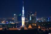 Night cityscape of Tallinn, Estonia — Stock Photo