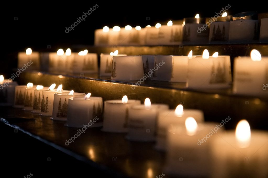 Church candles — Foto Stock #4319763