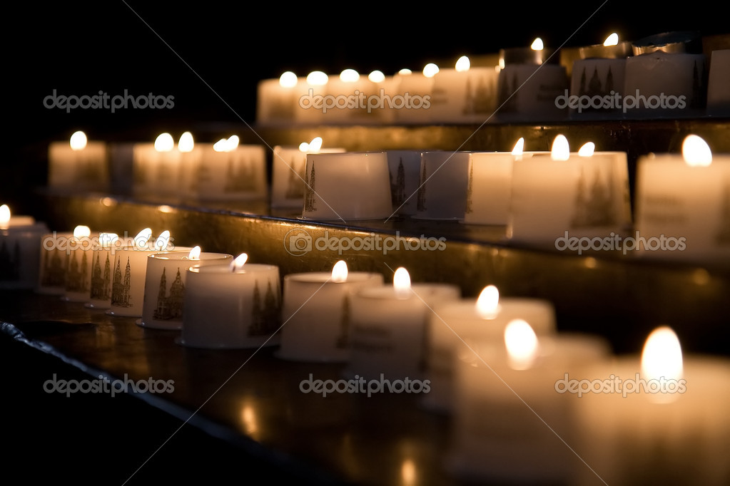 Church candles — Stok fotoğraf #4319763