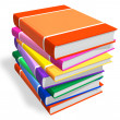 Stack of color books — Stock Photo