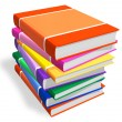 Stock Photo: Stack of color books