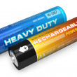 Two AA batteries — Stock Photo