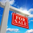"For sale"" real estate sign - Stock Photo"
