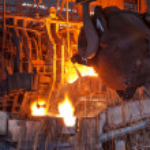 Open-hearth furnace — Stock Photo