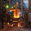 Electroarc furnace at metallurgical plant — Stock Photo