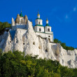 Stock Photo: Legendary church on chalk rock