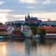 Evening Prague panorama - 图库照片