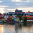 Evening Prague panorama - Stock Photo