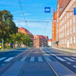 City street in Helsinki, Finland - Stock Photo