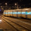 Commuter train with motion blur — Zdjęcie stockowe