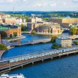 Aerial panorama of Stockholm, Sweden — Stock Photo #4358368