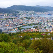 Wide panorama of Bergen, Norway — Stock Photo