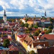 Panorama of the Old Town in Tallinn, Estonia - Stock Photo