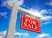 "For sale"" real estate sign — Stockfoto"