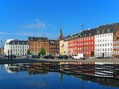 Old Town street in Copenhagen, Denmark — Stock Photo