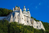 The legendary church on the chalk rock — Stock Photo