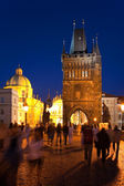 Night Charle's Bridge in Prague — Stock Photo