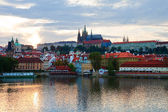 Evening Prague panorama — Stock Photo