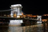 Chain Bridge in Budapest, Hungary — Stock Photo