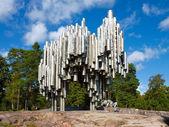 Sibelius monument in Helsinki, Finland — Stock Photo