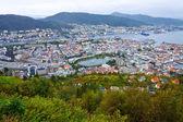 Wide panorama of Bergen, Norway — Stock Photo