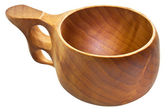 Kuksa - traditional finnish wooden cup — Stock Photo