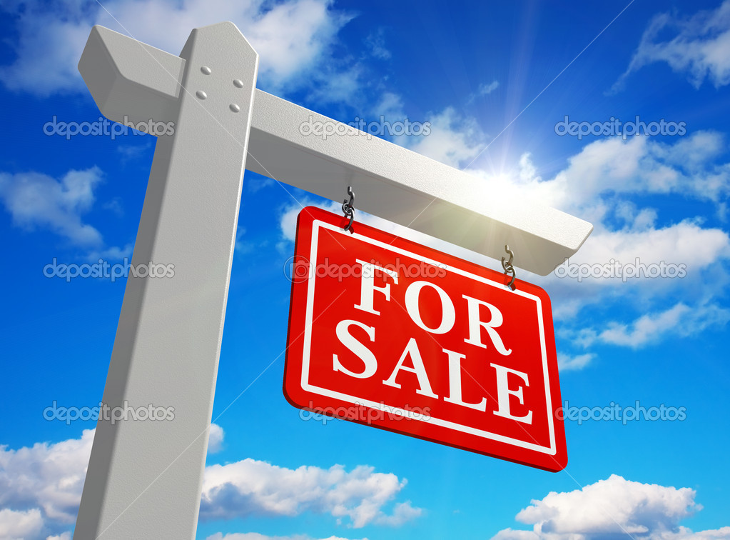 For sale real estate sign — Stock Photo #4357991