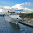 Cruise liner in Stockholm — Stock Photo