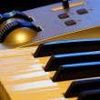 Stock Photo: Synthesizer keyboard and controls