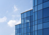 Reflective office building — Stock Photo