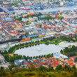 Aerial panorama of Bergen, Norway — Stock Photo