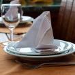 Stock Photo: Setting of restaurant table