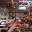 Interior of metallurgical plant workshop — Stock Photo