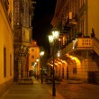 Empty night Prague street — Stock Photo